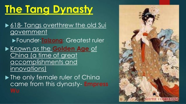 a brief history of the tang dynasty The tang dynasty or the tang empire was an imperial dynasty of china preceded by the sui dynasty and followed by the five dynasties and ten kingdoms period it is generally regarded as a high point in chinese civilization, and a golden age of cosmopolitan culture its territory, acquired through the military campaigns of.