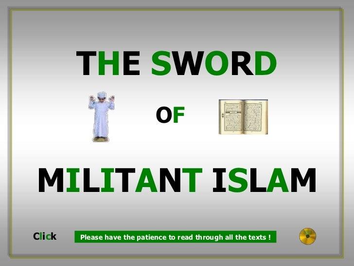 The sword of militant islam