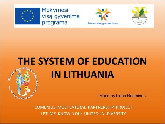The system of education in lithuania