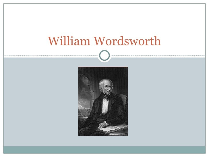 an analysis of the tables turned by william wordsworth Free essay: the tables turned the tables turned the tables turned william wordsworth up up my friend, and quit your books or surely you'll grow double.