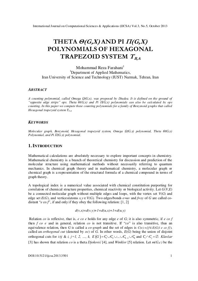 Theta θ(g,x) and pi π(g,x) polynomials of hexagonal trapezoid system tb,a
