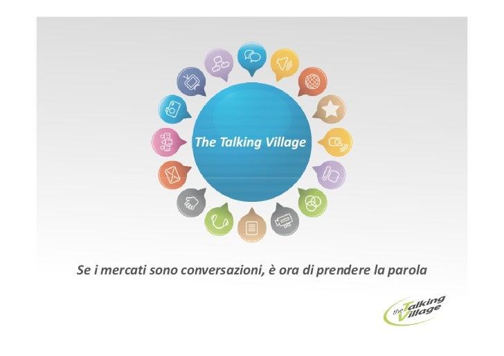 The Talking Village, un network di conversazioni
