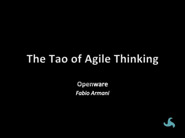 The Tao of Agile - XP2012