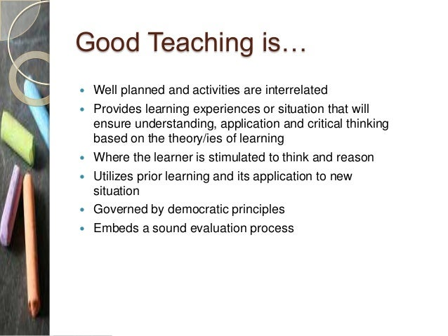 the teaching learning experience essay
