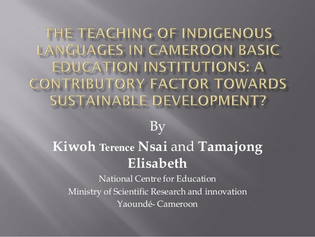 the-teaching-of-indigenous-languages-in-cameroon-basic-kiwoh