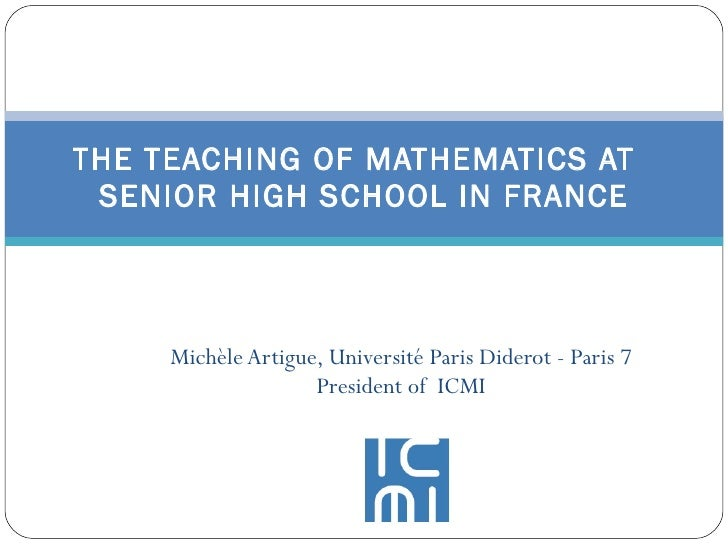 The Teaching Of Mathematics At Senior High School In France