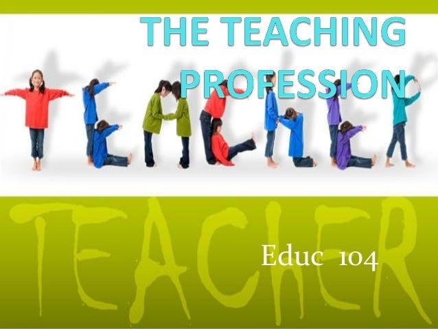 The teaching profession gda