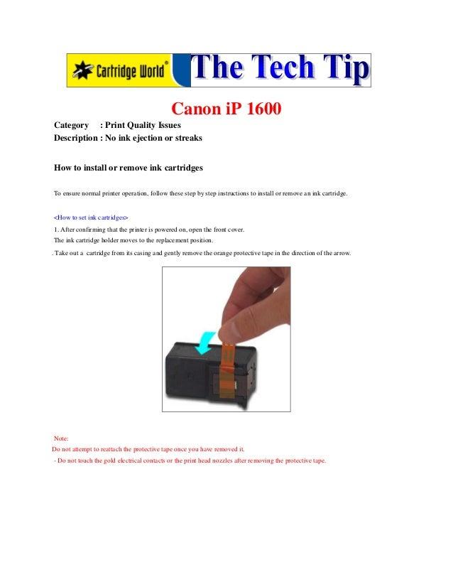The tech tip   canon i p-1600