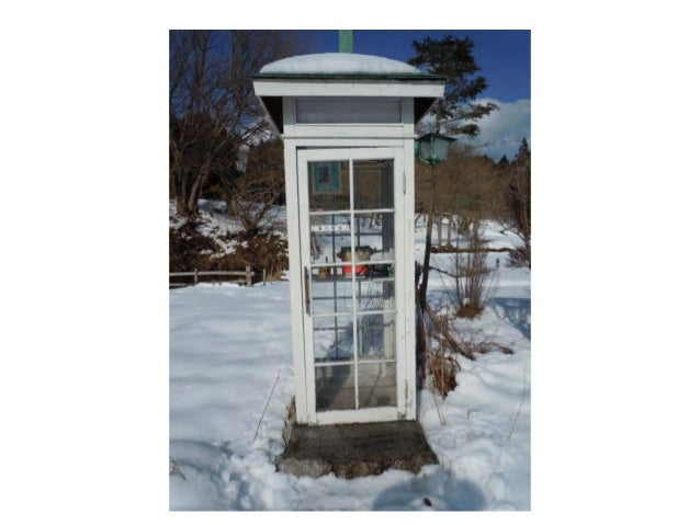 The telephone booth garden