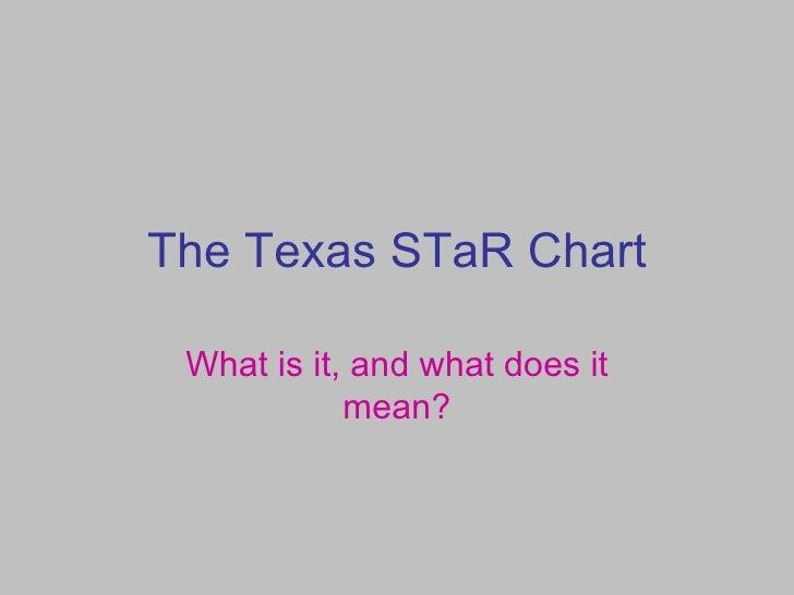 The Texas S Ta R Chart Presentation