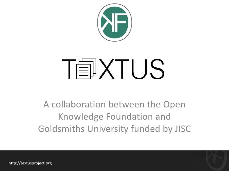 A collaboration between the Open                    Knowledge Foundation and                Goldsmiths University funded b...
