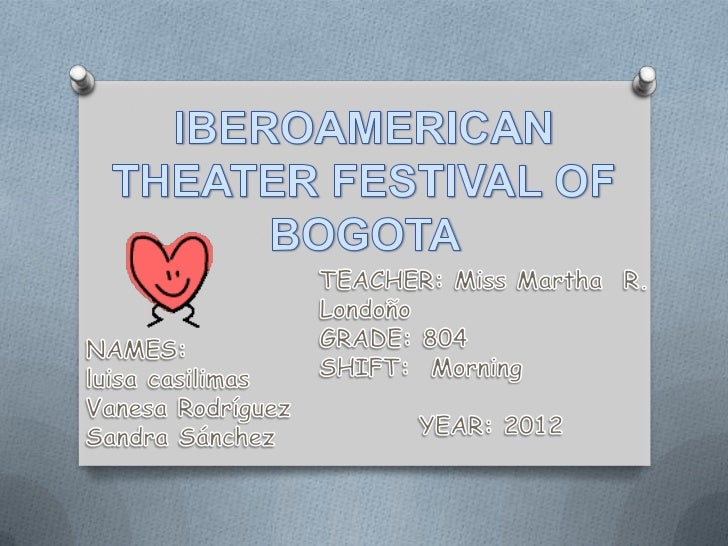 The theater festival