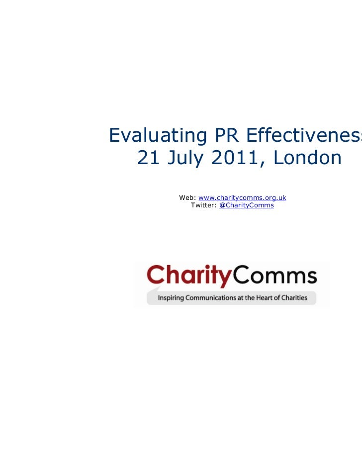 The theory: evaluating PR