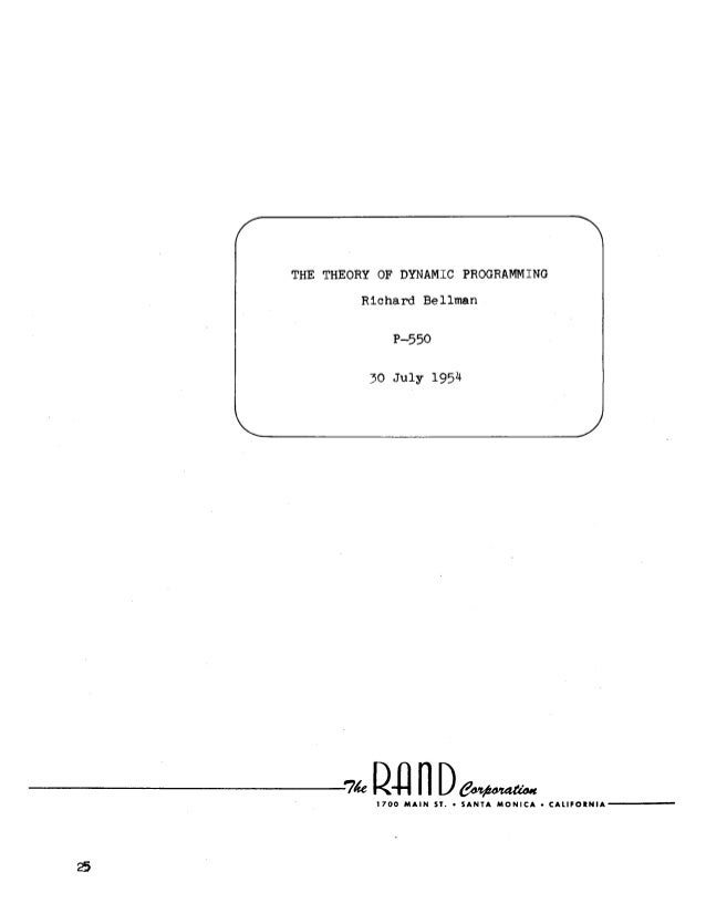 The Theory of Dynamic Programming by Richard Bellman