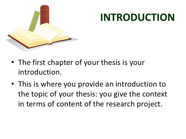 Introduction Of Thesis