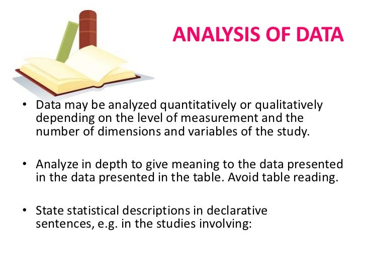 Interpretation of data in thesis