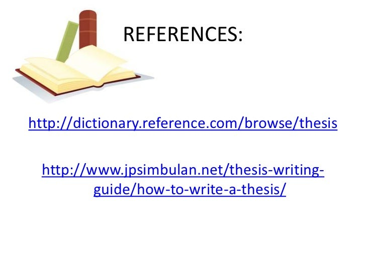 References thesis writing