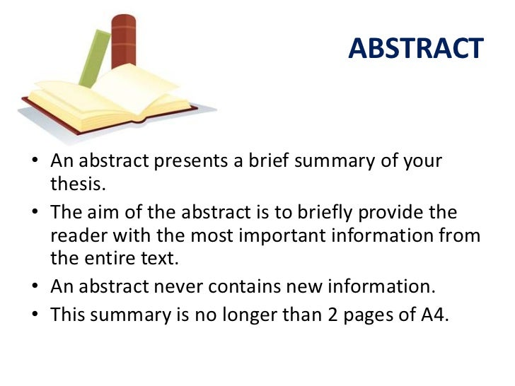 Abstract for research dissertation