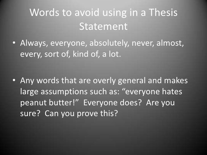 avoiding fallacies in a thesis Avoiding fallacies fallacies are another way of saying false logic these rhetorical tricks deceive your audience with their style, drama, or pattern.