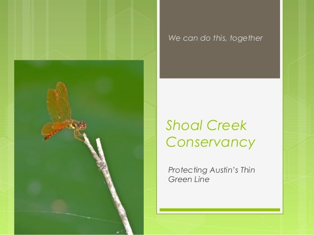 Shoal Creek Conservancy Protecting Austin's Thin Green Line We can do this, together