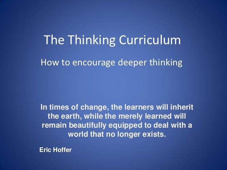 The Thinking Curriculum 2