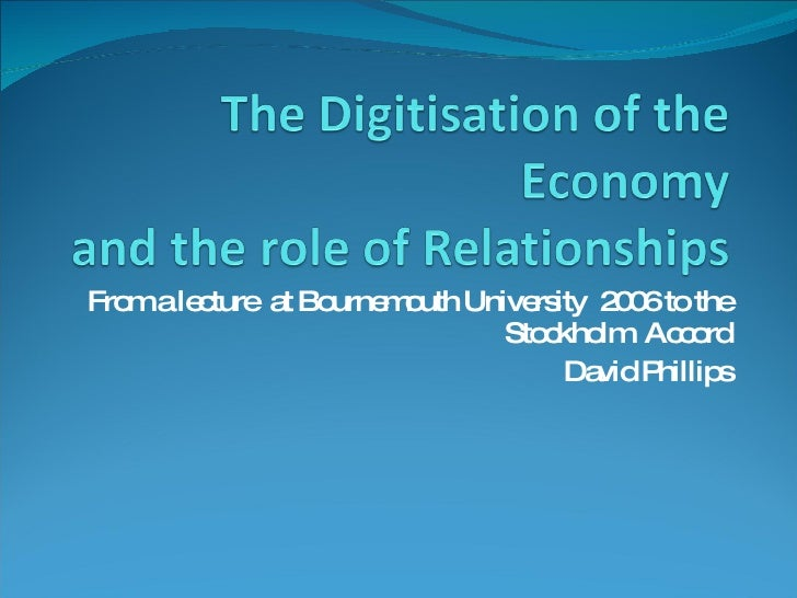 The Third Industrial Revolution And Pr