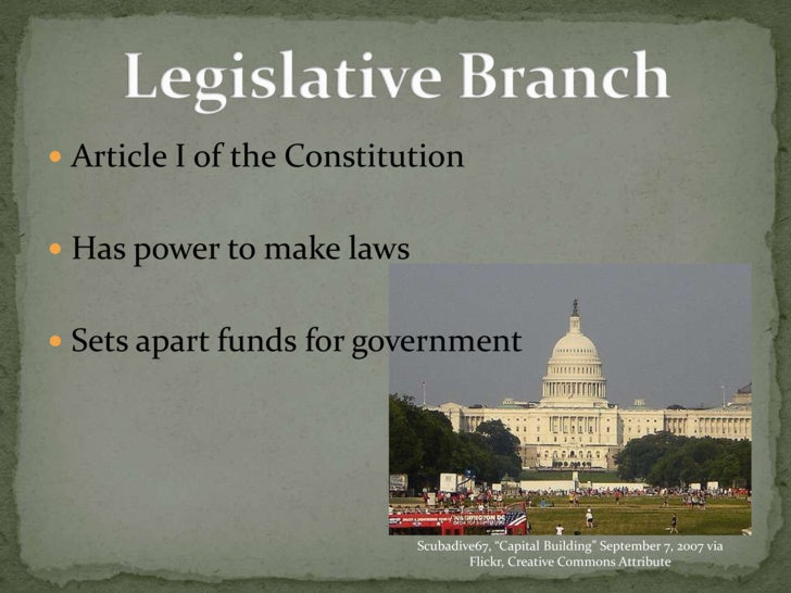 3 branches of government essay The us government was created in three branches, the executive, the judicial and legislative the government felt that this division of power would check and balance them the legislative branch or the law-making body of government is broken up in po.