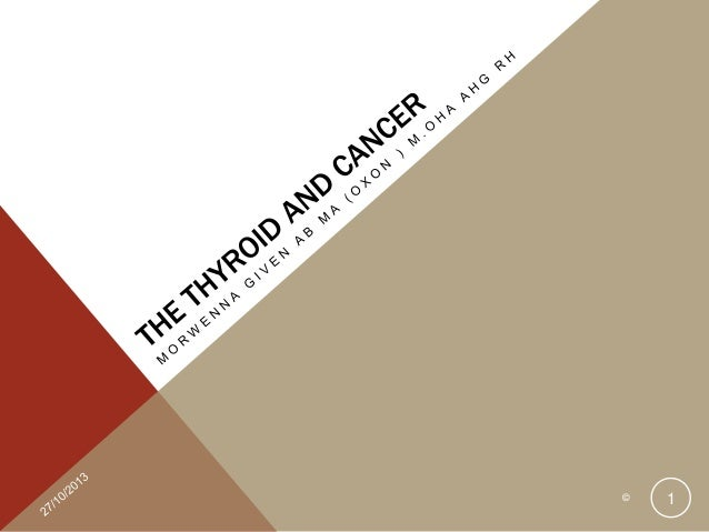 The Thyroid and Cancer