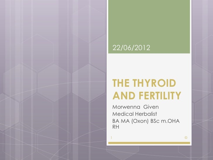 The thyroid and fertility