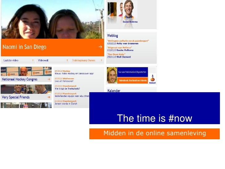 The time is now online reputatie rabobank