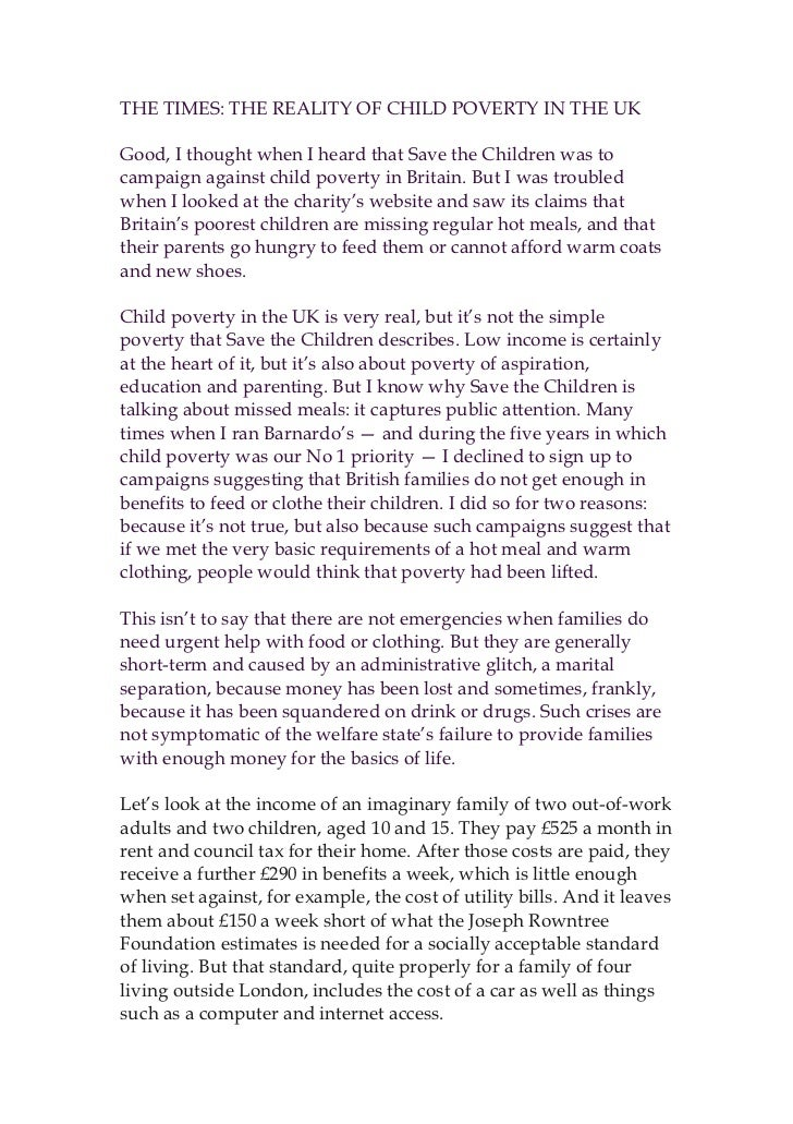 The times child poverty sep 2012 final