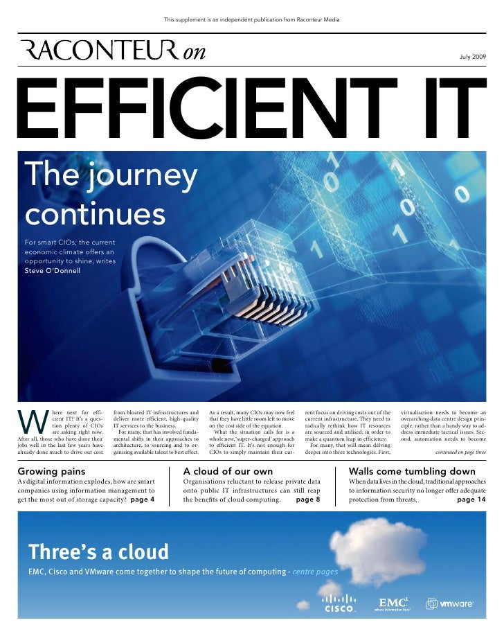The Times   Efficient It Supplement