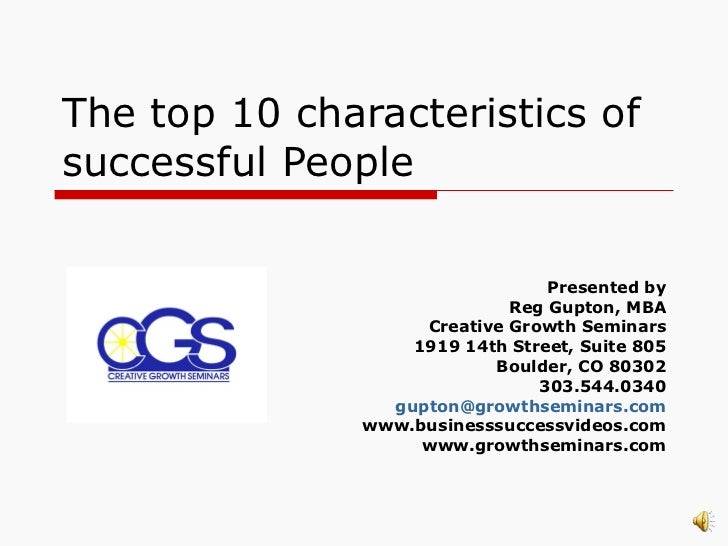 The top 10 characteristics of successful people