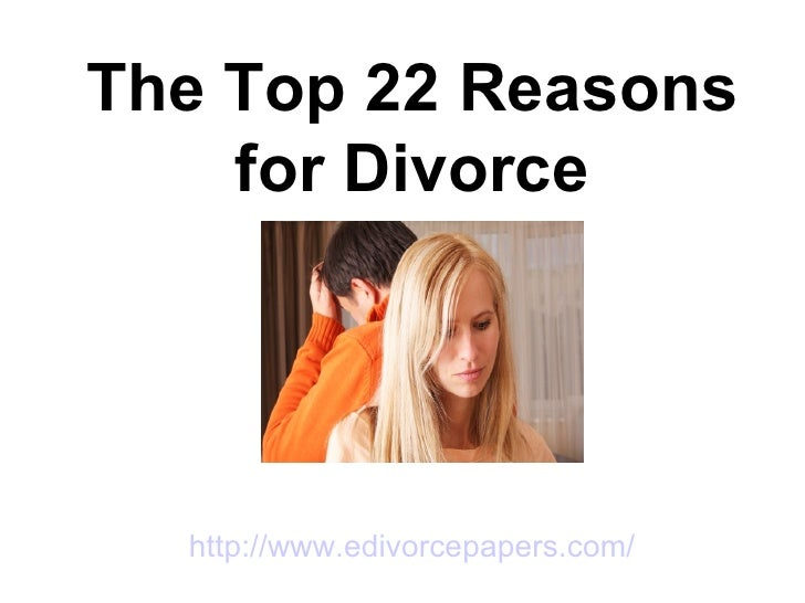 The top 22 reasons for divorce