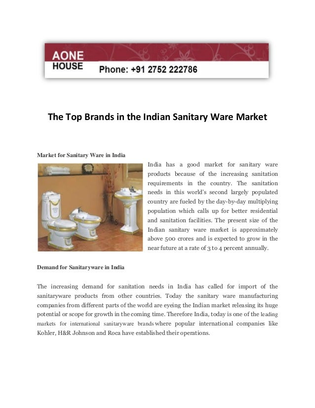 The Top Brands In The Indian Sanitary Ware Market