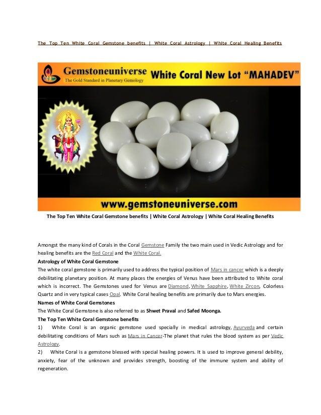 the top ten white coral jyotish gemstone benefits for