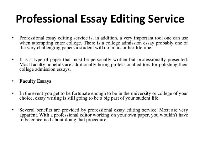 College essay editing services uk