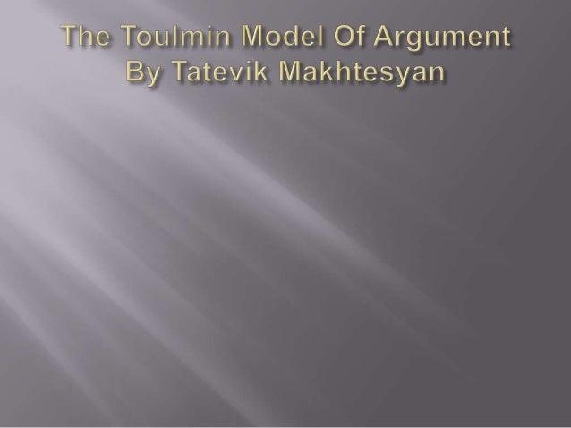 The toulmin model of argument tato