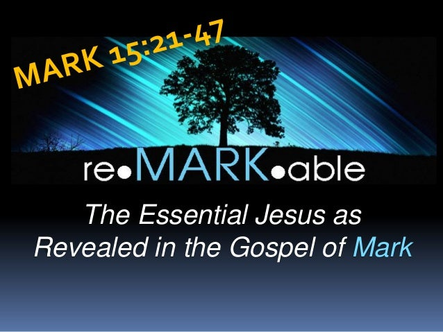 The tragic triumph of the cross   mark 15-21-47