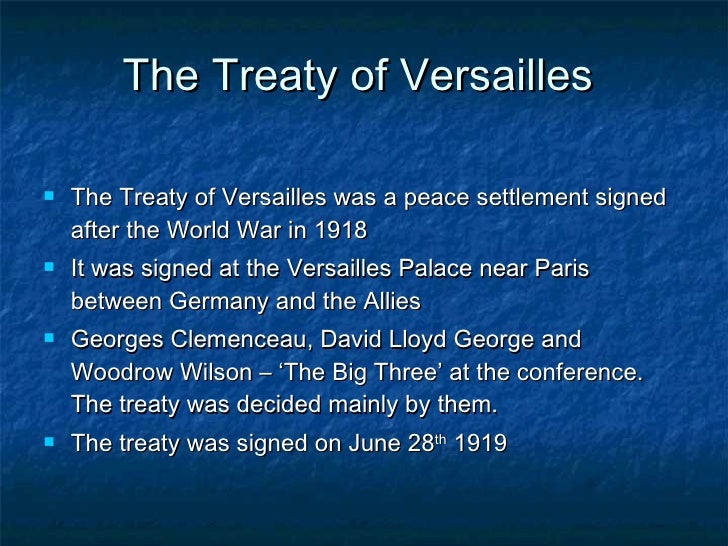 The Effects of the Treaty of Versailles Essay