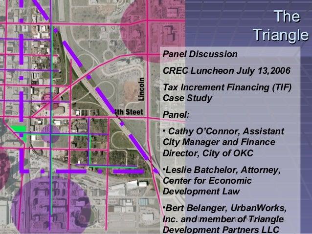 The triangle   master plan & tif presentation for crec 071306