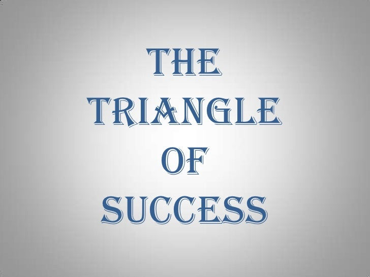 The triangle of success