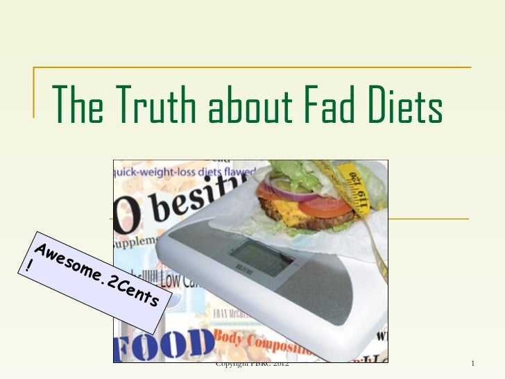 The truth about fad diets Unit 8