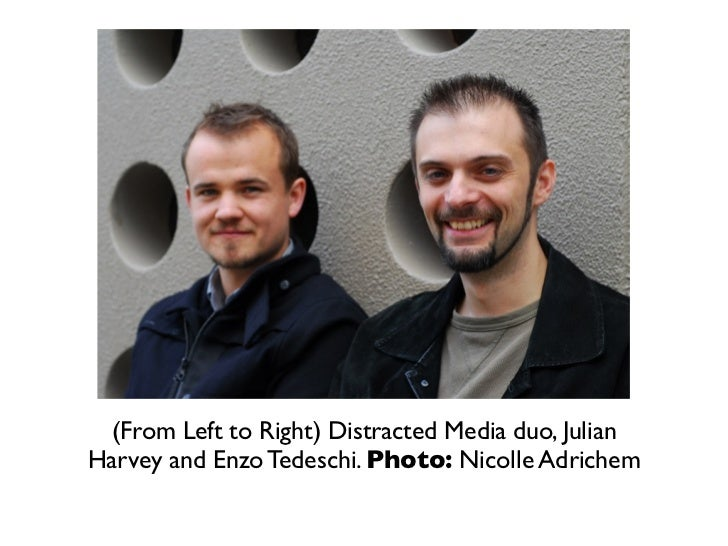 (From Left to Right) Distracted Media duo, JulianHarvey and Enzo Tedeschi. Photo: Nicolle Adrichem
