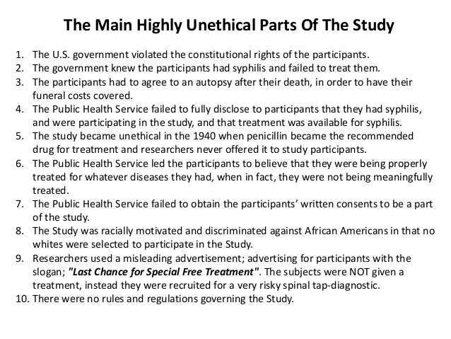 unethical studies