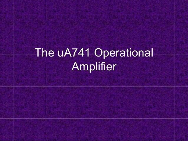 Operational amplifier UA741
