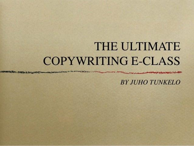 The Ultimate Copywriting E-Class