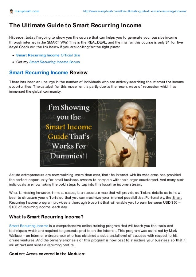 manphuah.com http://www.manphuah.com/the-ultimate-guide-to-smart-recurring-income/ The Ultimate Guide to Smart Recurring I...