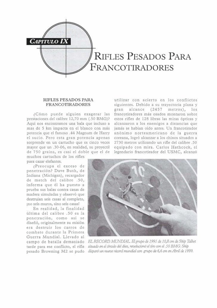RIFLES PESADOS PARA                        utilizar con acierto e n los conflictos           FRANCOTIRADORES              ...