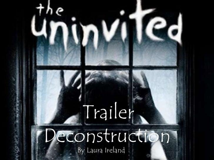 The uninvited trailer deconstruction